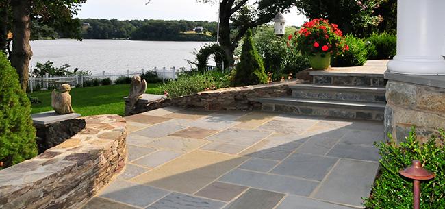 landscape-hardscape-flagstone-patio - Homestead Gardens, In