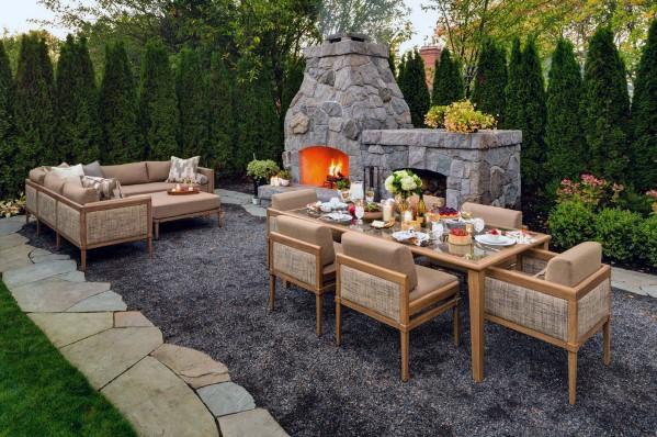 Top 40 Best Gravel Patio Ideas - Backyard Desig