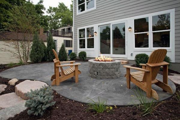 60 Concrete Patio Ideas - Unique Backyard Retrea