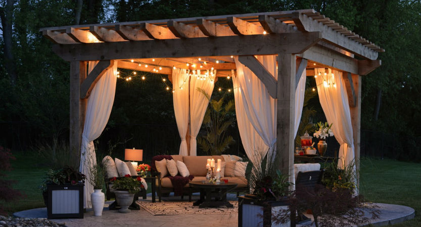 Outdoor patio lighting ideas - Use a centerpiece - Get more tips .