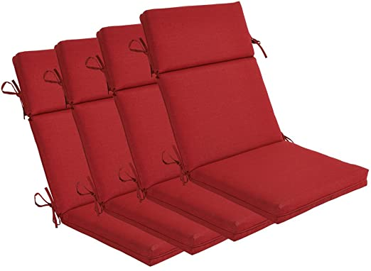 Amazon.com : BOSSIMA Indoor Outdoor High Back Chair Cushions .