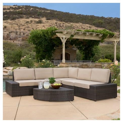Santa Cruz 6pc Wicker Patio Sofa Set - Christopher Knight Home .