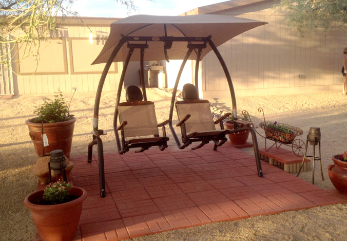 High-quality outdoor patio swings | A2Z Sunset Swin