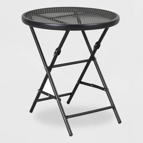 "18"" Steel Mesh Patio Folding Table - Threshold™ : Targ"