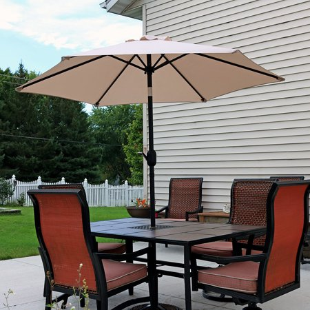 Sunnydaze 7.5 Foot Outdoor Patio Umbrella with Tilt & Crank .