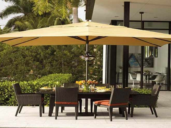 Large Cover Patio Umbrellas Yellow For Backyard Space Ideas With .