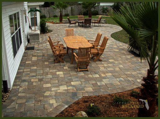 paver patio design | Stone patio designs, Patio pavers design .