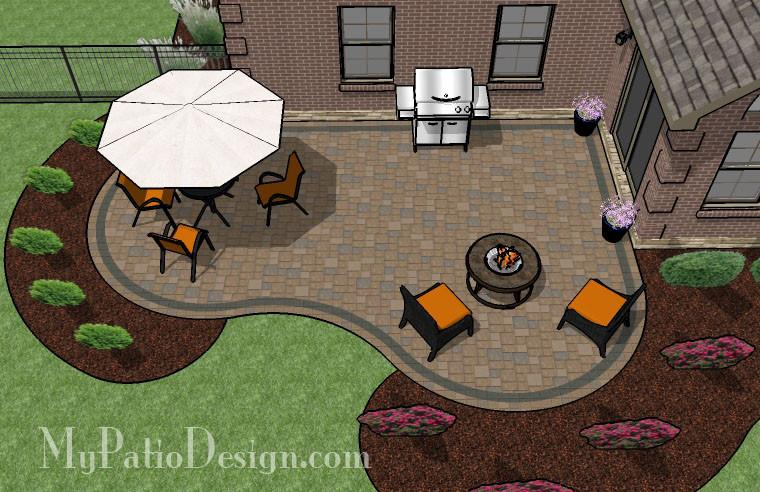 Cozy Curvy Paver Patio Design   Layouts & Material List .