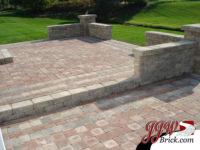 Paver Patio Designs - Traditional - Patio - Detroit - by JJW Brick.c