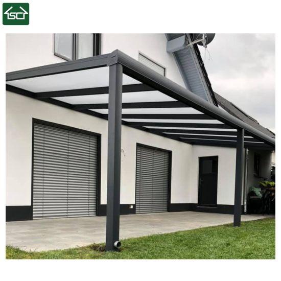 China Aluminium Pergola Profilewith Glass Roof Louvered Roof .