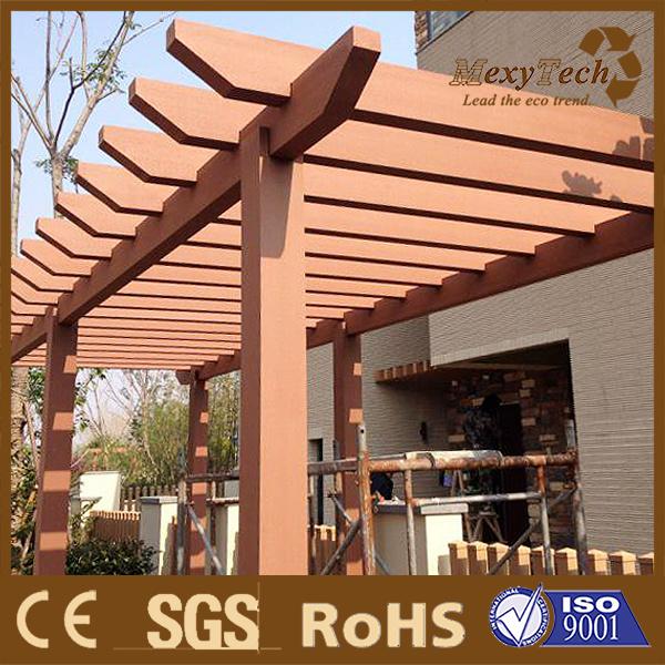 China WPC Patios Timber Pergola Designs in Garden or Balcony .