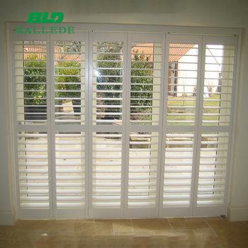 2018 White Window Shutters,Plantation Blinds,Octagon Window .