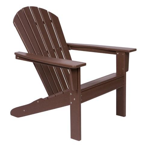 Seaside Plastic Adirondack Chair Mocha - Shine Company Inc. : Targ