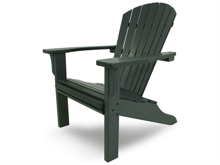 POLYWOOD® Seashell Recycled Plastic Adirondack Chair | SH