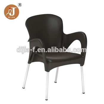 Wholesale Price Patio Plastic Garden Chairs with Aluminum Legs .