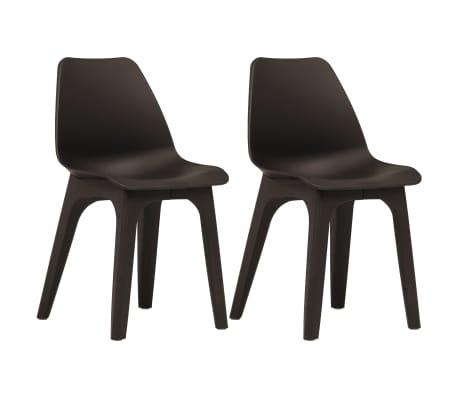 vidaXL Garden Chairs 2 pcs Brown Plastic | vidaXL.c