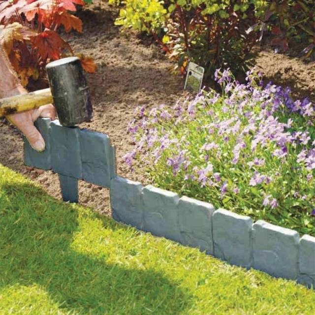 Garden Lawn Plastic Fence Path Grass Wall Edging Border Flower .