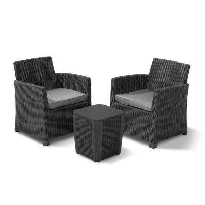 Gray - Plastic - Fast Drying - Outdoor Lounge Furniture - Patio .