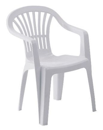 Decorate your outdoor plastic patio chairs | White plastic chairs .