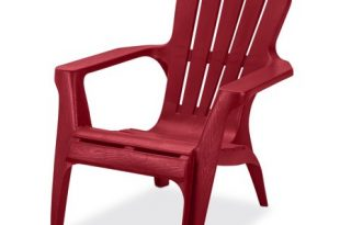 US Leisure Resin Adirondack Plastic Patio Furniture Chair, Red .