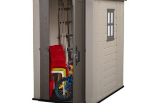 Keter Factor 4' x 6' Resin Storage Shed, All-Weather Plastic .