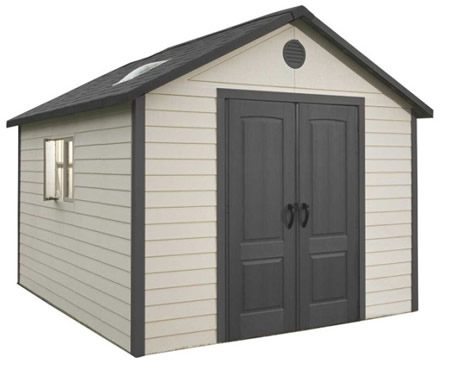 Lifetime 11x11 Plastic Storage Shed with Floor (643