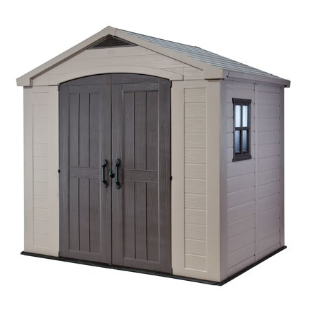 Keter Factor 8' x 6' Resin Storage Shed, All-Weather Plastic .