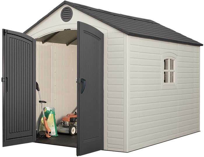 Lifetime 8x10 Plastic Storage Shed Kit w/ Floor (640
