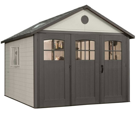Lifetime 11x11 Plastic Storage Shed w/ 9' doors (6018