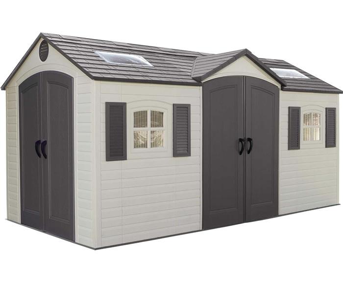 Lifetime 15x8 Plastic Storage Shed Kit w/ Double Doors (6007