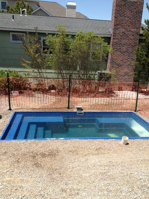 The palladium plunge pool installed and ready for electric .