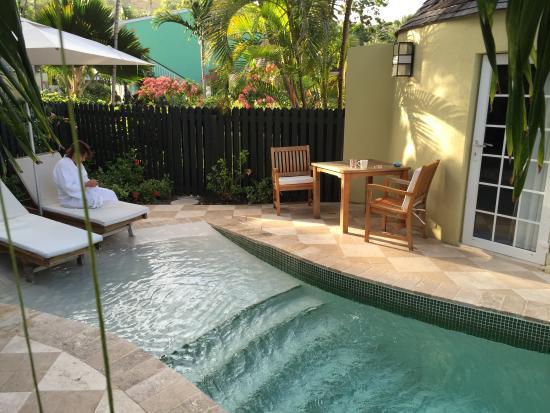 Private Plunge Pool - Picture of Sandals Grande Antigua Resort .