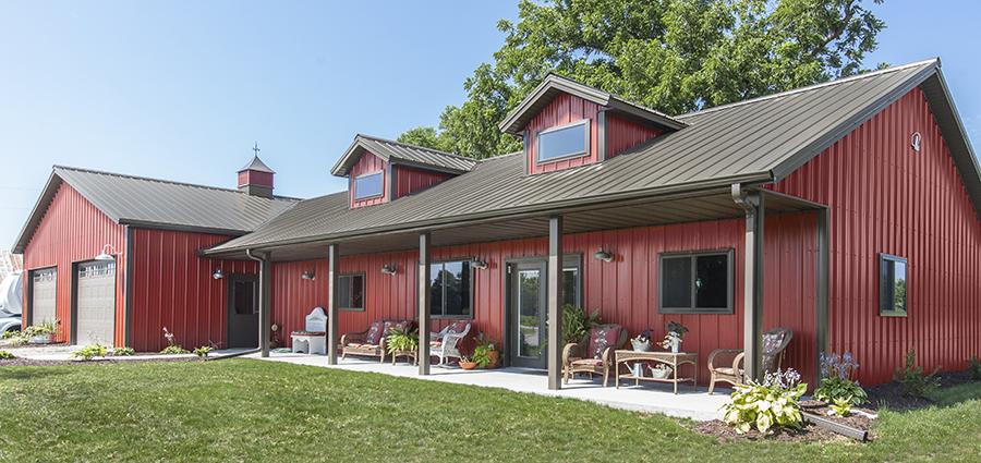Residential Pole Buildings | Post-Frame Pole Barn Homes | Lester .