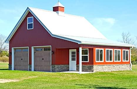 Amazon.com: 12 Pole-Barn Plans with Lofts - Complete Construction .