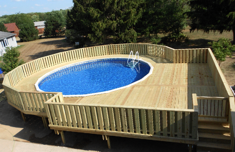 Above Ground Pool Deck Builder, MA - Deck Builders