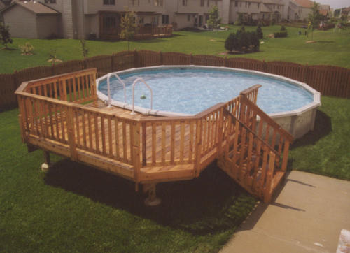 10' x 14' Leisure Pool Deck for a 24' Pool Material List at Menards