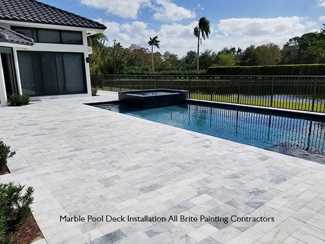 Marble Pool Deck Installation Parkland FL - Deerfield Beach .