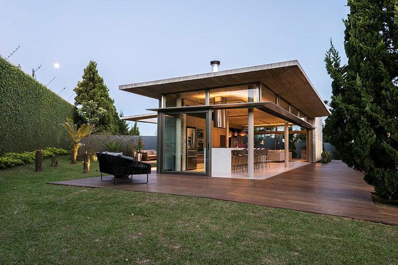 Exposed Concrete Pool Houses : the casa elac