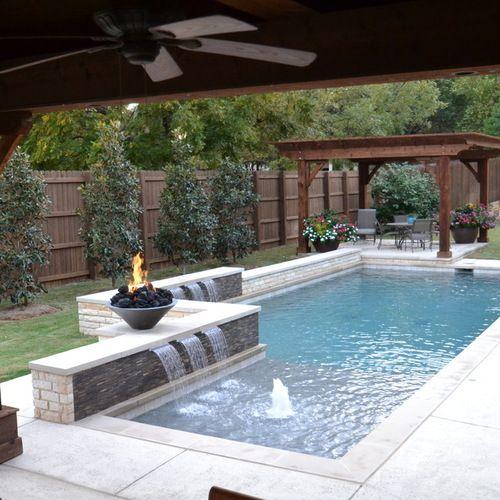 Affordable, Premium Small Dallas Small Plunge Rectangular Pool .