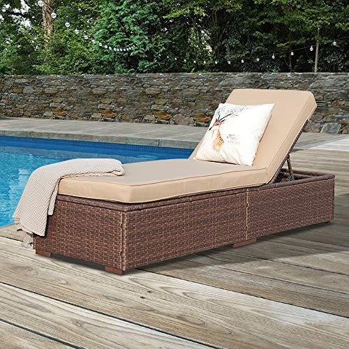 Amazon.com : Super Patio Outdoor Chaise Lounge Chair, PE Wicker .
