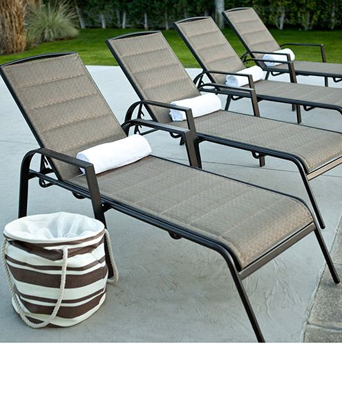 Aluminium pool lounge chairs | Outdoor chaise lounge chair, Pool .