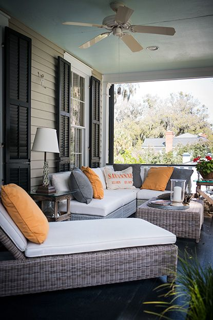 Gorgeous porch | Porch furniture, Home, Outdoor living spa