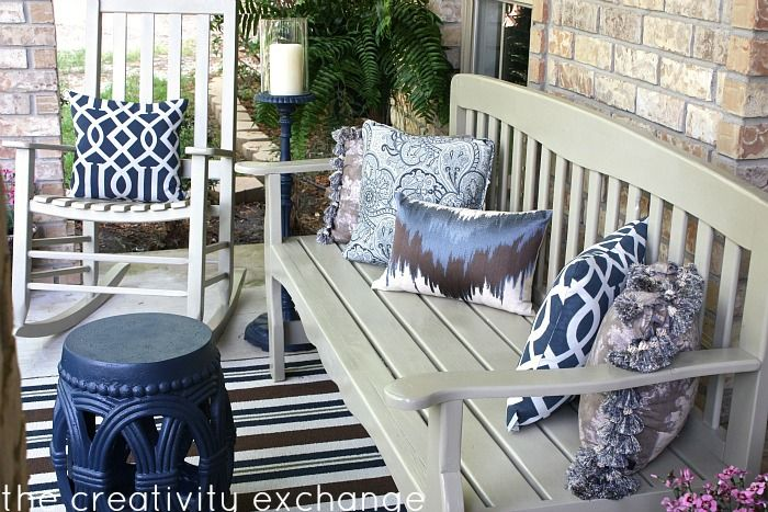 Front Porch Revamp- How to Spray Paint Outdoor Furniture | Porch .