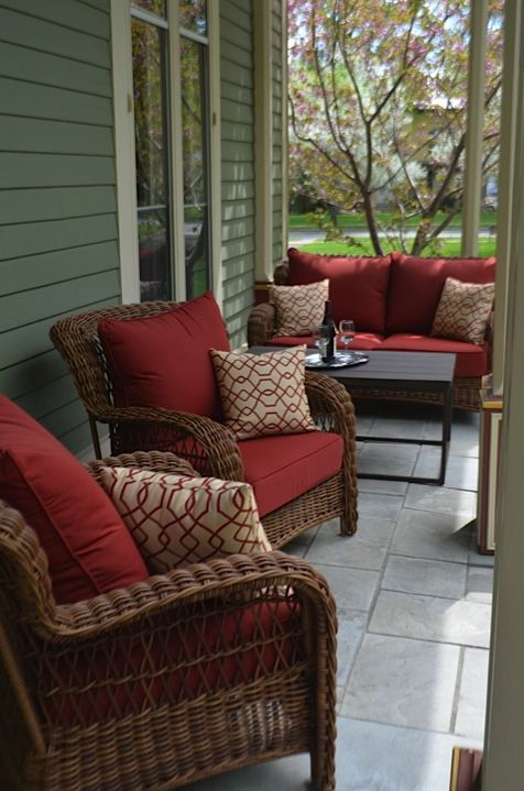 Come enjoy our new porch furniture and relax to the sound of a .
