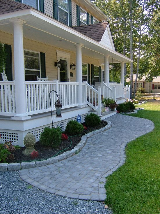 Traditional Exterior Front Porch Design, Pictures, Remodel, Decor .