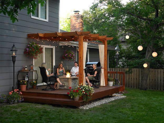 5 Back Porch Ideas & Designs For Small Homes | Outdoor pergola .