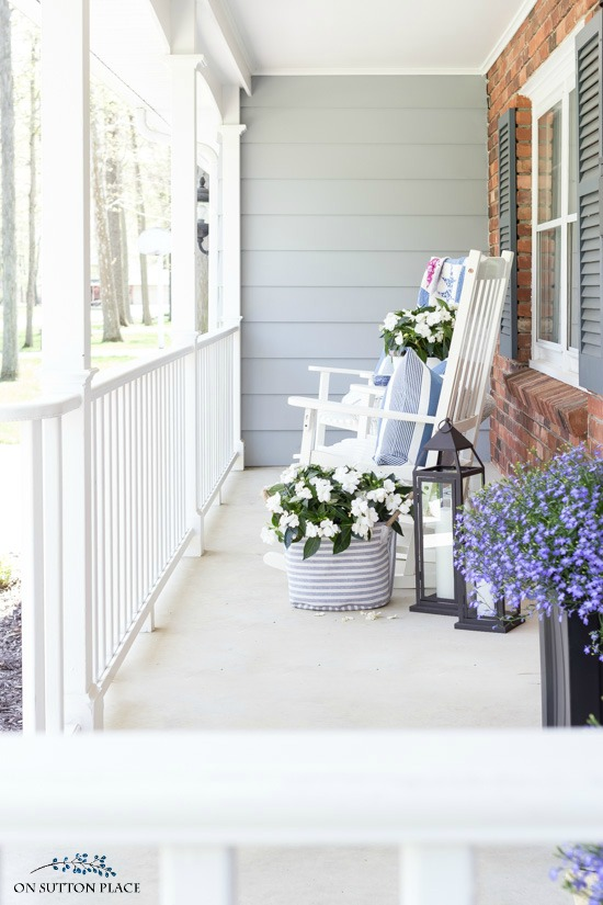 Sytlish Small Front Porch Ideas for Summer - On Sutton Pla