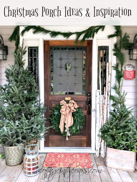 Cottage Christmas Front Porch Ideas - Cottage in the Oa