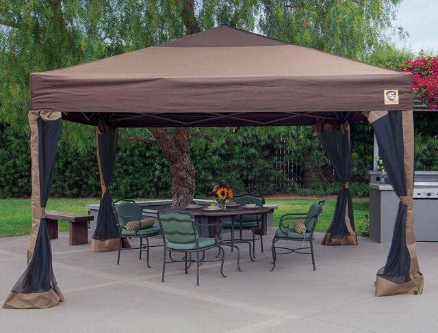 Portable Gazebo Large Canopy 12 x 12 Steel Frame Yard Tent Instant .