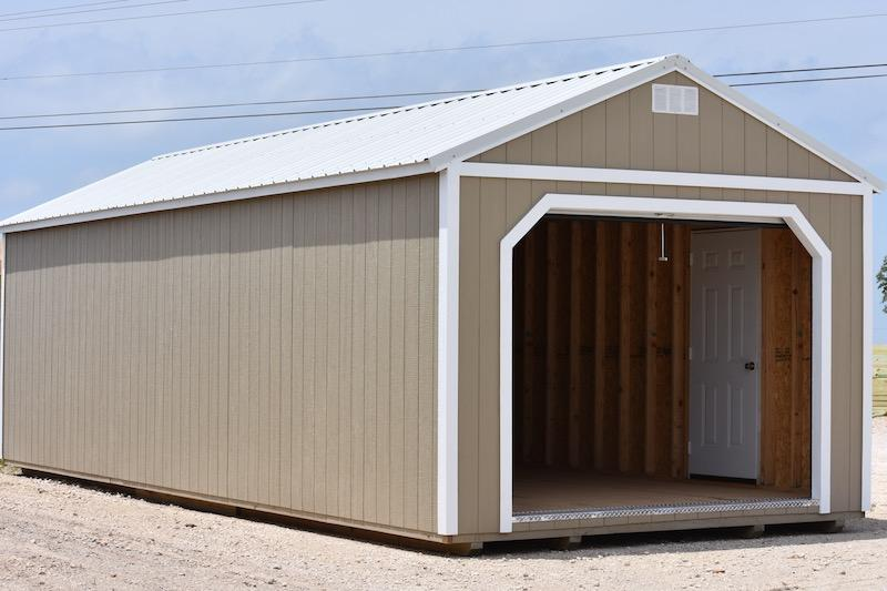 Painted Portable Garage | Derksen Portable Buildin